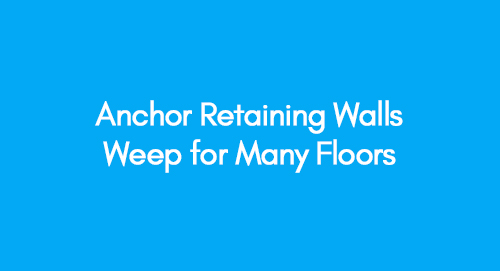 Anchor retaining walls deep for many floors