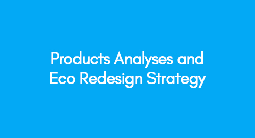 Products Analyses and Eco redesign strategy